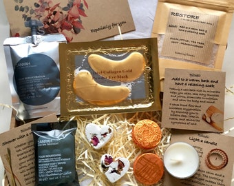SPA gift box, Relax & Restore, Mini spa gift, Letterbox care package, Relaxation kit, Hug in a box, Personalised, Pick me up,Unwind/Destress