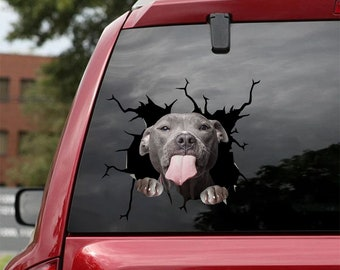 Pitbull Decal - fits cars,Windows,Laptops and any smooth surface,Pitbull Stickers, Pet Stickers, Custom Pitbull Stickers, Love Pitbull Decal