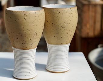 Beer mug, wheat beer mug, Vol.0,5 ltr. Variation smooth / speckled
