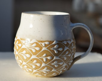 Ceramic cup, handmade ,teacup, coffee mug, mug, cocoa mug, handle mug, 400ml