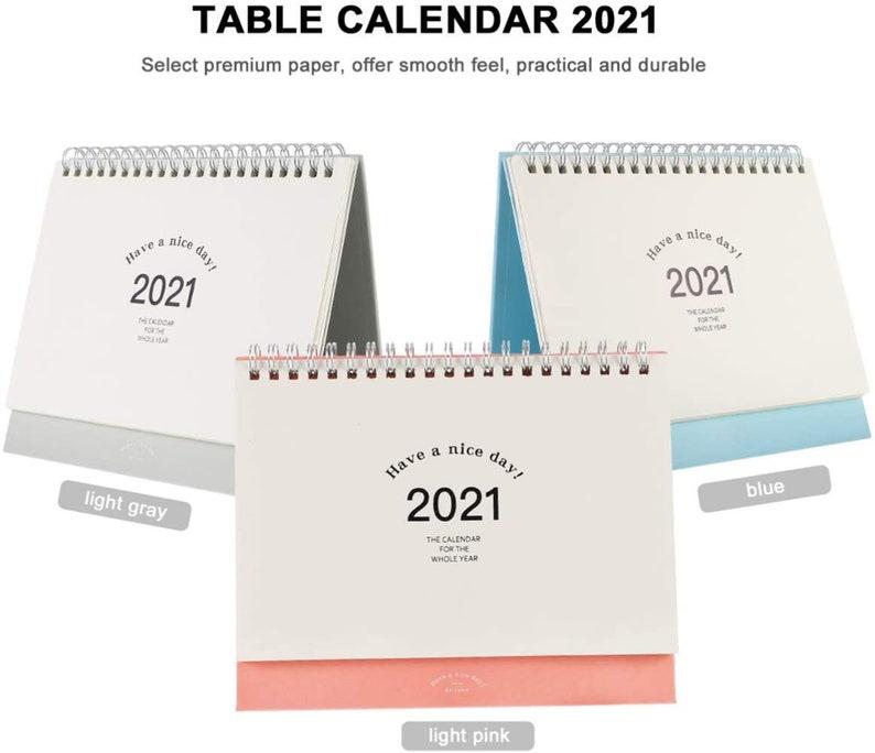 2021 Schreibtisch Kalender Neujahr / 2021 monatliche ...