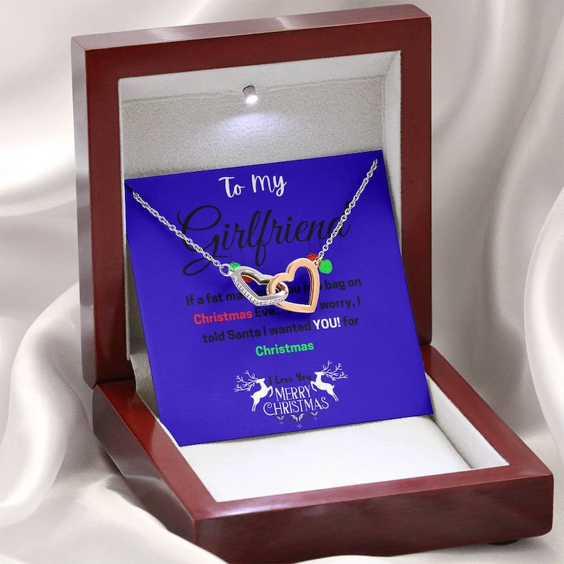 I Told Santa I Wanted You For Christmas Double Heart Necklace Christmas Gift 2020