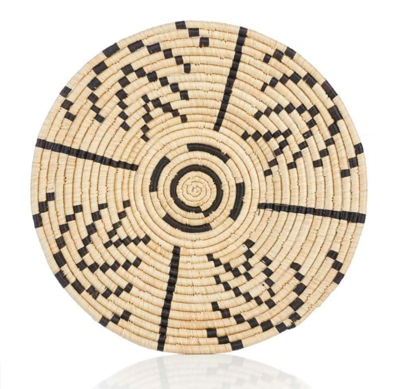 Matope Raffia Basket Plate from Uganda