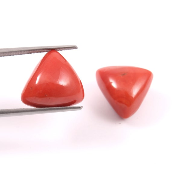 Best Price AG-11525 Coral Suppliers Jewellery Making Gemstone Size 19x14x4 MM Pendant Stone Beautiful Pear Shape Red Horn Coral Cabochon