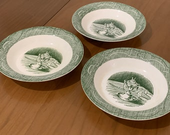 Colonial Homestead Serving Bowl Set of 2 Vintage Mid Century Collectible