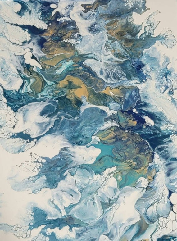 Abstract Fluid Art Prints- Unframed