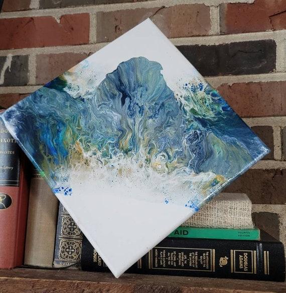 Blue Crown- Abstract Fluid Art