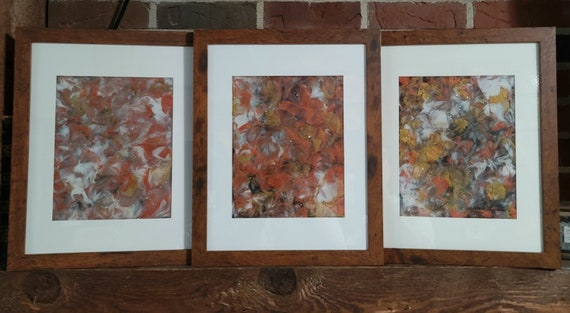 And Jewels - Abstract Triptych Painting