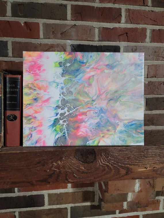 Ode to Lisa Frank - Abstract Dutch Pour Painting