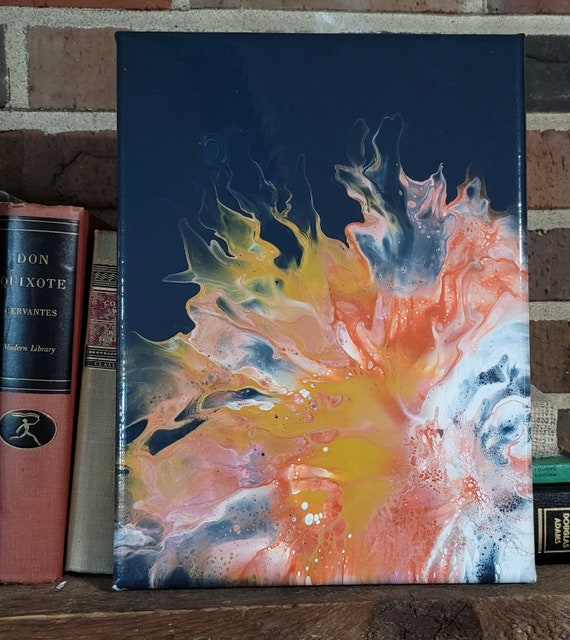 Blooming Laughter - Abstract Dutch Pour Painting and Prints