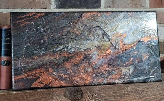 Metallic Ore Abstract Fluid Art