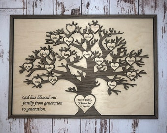 Personalised Family Print Picture Tree Christmas Mothers Day Present Gift Mum Coats P302