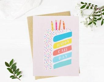 Happy Birthday Card | Happy Birthday Card Friend | Funny Happy Birthday Card | Happy Cake Day Card