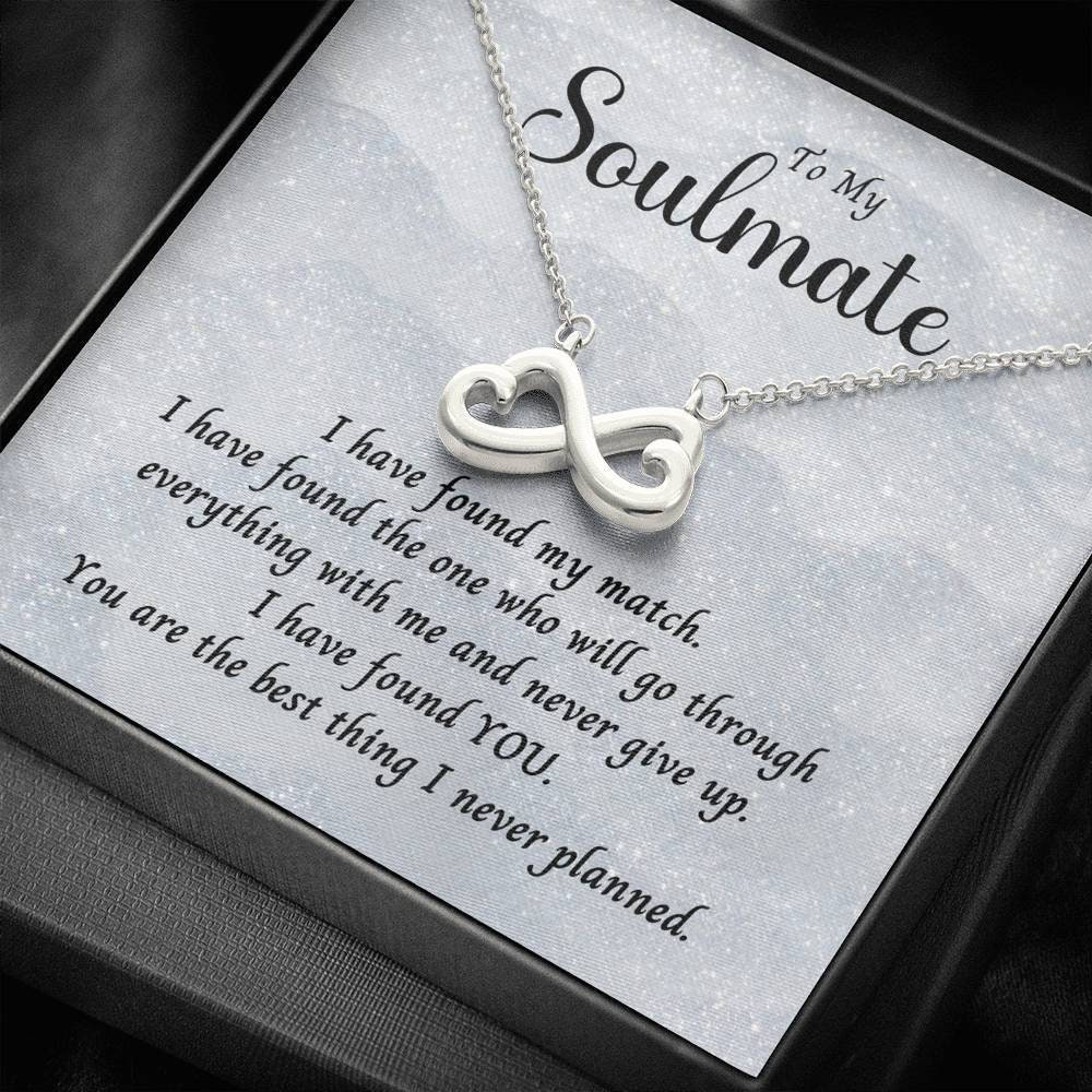 To My Soulmate I Have Found My Match Infinity Heart | Etsy
