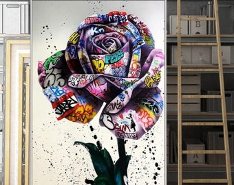 CANVAS OR PRINT WALL ART Graffiti Art LVIII