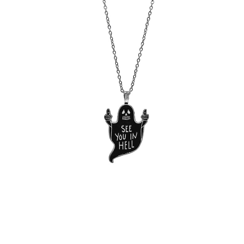 See You In Hell Ghostie Necklace