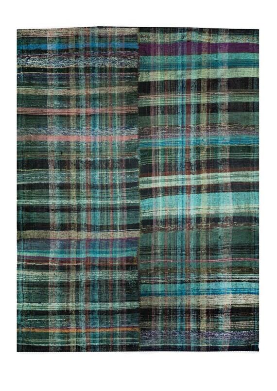 7'8'' x 9'02'' Mix Color Vintage Turkish Hemp Rug,Anatolian Handmade Area Rug,Home Decor,Decorative Rug,Rainbow Rug,Nomadic Rug