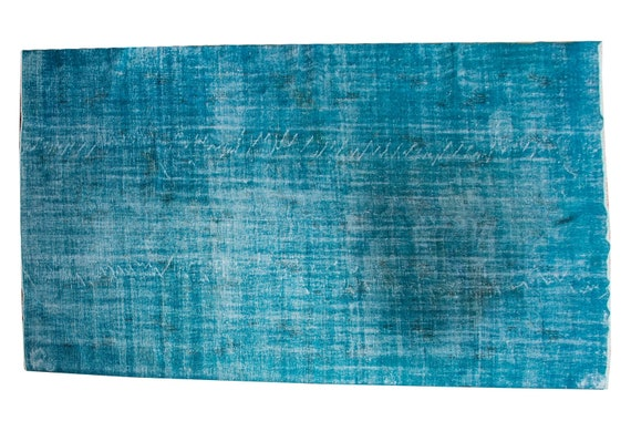 7'05''x10'6''Blue Color Vintage Turkish Wool Rug,Anatolian Ottoman Handmade Area Rug,Home Decor,Decorative Rug,Nomadic Rug,Modern Rug,541