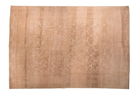 8'5''x12'3'' Milky Brown Color Vintage Turkish Wool Rug,Anatolian  Handmade Area Rug,Home Decor,Decorative Rug,Nomadic Rug,Soft  Rug,1629