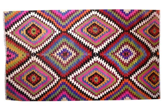 """6'06""""X8'03''Vintage Pastel Colorful Color Turkish Area Rug,Bedroom Rug,Neutral Rug,Living Room Rug,Boho Rug,Decorative Rug,Faded Rug,2830"""