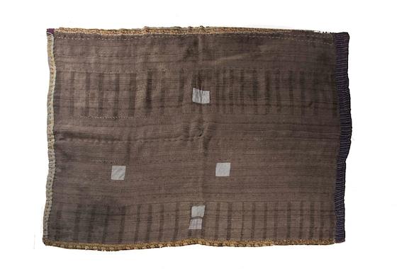 4'9''x6'5''Gray Color Vintage Hand Woven Quilt,Anatolian Handmade Quilt,Home Decor,Decorative Quilt Area Quilt,Custom Kurdish Quilt,5370