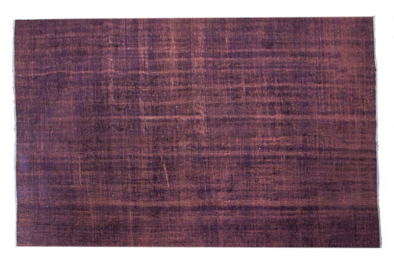 "5'5""X 8'5'' Faded Brown-Blue Color Vintage Turkish Wool Rug,Anatolian Handmade Area Rug,Decorative Rug,Nomadic Rug,An Artistic Work Rug,3110"