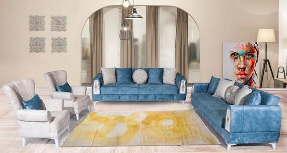 5'08''x10'2''Faded Custom Painted,Vintage,Natural Beige-Yellow Color Turkish Area Hemp Rug, Bedroom Rug, Neutral Rug,Living Room Rug,