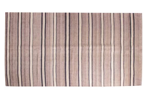 4'5''x 8'03'' Brown-Beige Color Vintage Turkish Wool Rug,Anatolian Handmade Area Rug,Home Decor,Decorative Rug,Custom Design Rug,Nomadic Rug