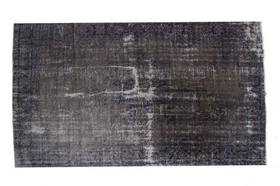 7'8''x11'3'' Gray-Blue  Color Vintage Turkish Wool Rug,Anatolian Handmade Area Rug,Decorative Rug,Nomadic Rug,An Artistic Work Rug,1220