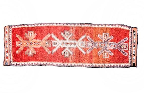 3'2'' x 10'6'' Pink Color Vintage Turkish Wool Rug,Anatolian Handmade Area Rug,Home Decor,Decorative Rug,Pink And Beige Rug,Nomadic Rug