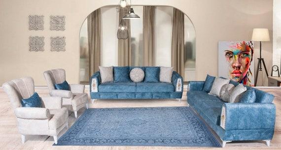 10'1''x13'2''Faded Natural Beige-Blue Color Turkish Wool Rug,Anatolian Ottoman Handmade Area Rug,Decorative Rug,Nomadic Rug,Modern Art Rug,