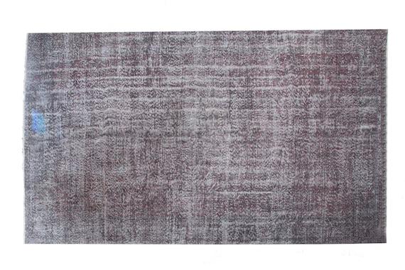 "6'2"" X 10'6''Faded Gray-Red Color Vintage Turkish Wool Rug,Anatolian Handmade Area Rug,Decorative Rug,Nomadic Rug,An Artistic Work Rug,3109"