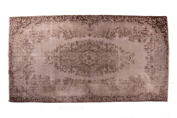 3'7''x6'5''Gray Color VintageTurkish Wool Rug,Anatolian Ottoman Handmade Area Rug,Home Decor,Decorative Rug,NomadicRug,3014