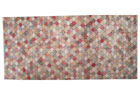 "5'2"" X 9'5'' Faded Rainbow Color Vintage Turkish Wool Rug,Anatolian Handmade Area Rug,Decorative Rug,Nomadic Rug,An Artistic Work Rug,3140"