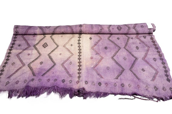 4'03''x6'8'' Beige-Purple Color Vintage Turkish Wool Cicim Rug,Anatolian Handmade Area Rug,Home Decor,Decorative Rug ,Nomadic Rug,Modern Rug