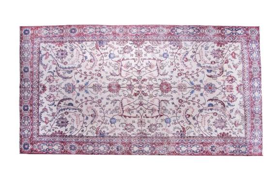 6'3'' x 10'5'' Beige Color Vintage Turkish Wool Rug,Anatolian Ottoman Handmade Area Rug,Home Decor,Decorative Rug ,Nomadic Rug,Modern Rug