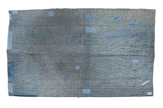 4'9''x6'2''Very Soft  Blue Color Vintage Hand Woven Quilt,Anatolian Handmade Quilt,Home Decor,Quilt Area Quilt,Custom Kurdish Quilt,5380