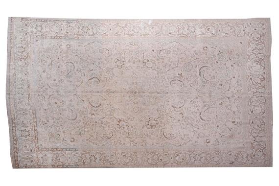 10'2''x13'2''Vintage Pastel Natural Color Turkish Area Rug,Bedroom Rug,Neutral Rug,Living Room Rug,Boho Rug,Decorative Rug,Faded Rug,3237