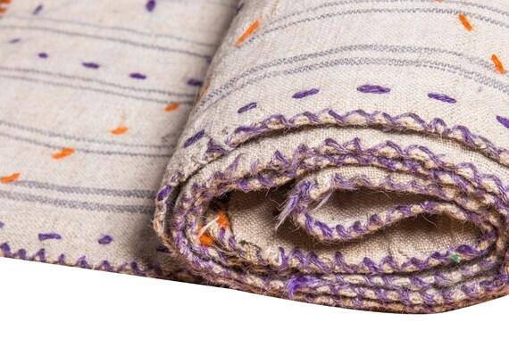 4'7''x6'2''Beige-Rainbow Color Vintage Hand Woven Quilt,Anatolian Handmade Quilt,Home Decor,Decorative Quilt Area Quilt,Custom Kurdish Quilt