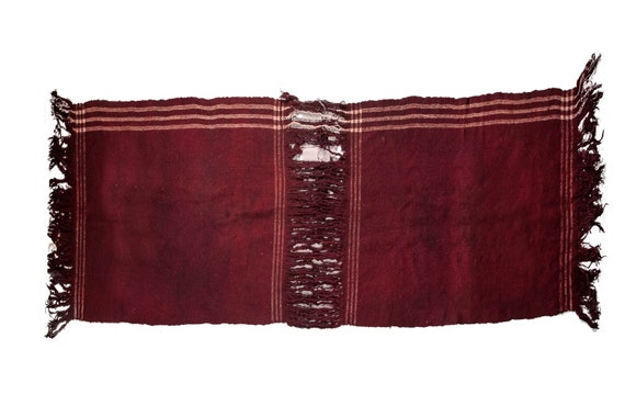 2x1'8''x3'6''Burgandy Color,Original Old Hand Woven Cook Apron Rug,Anatolian Ottoman Handmade Area Rug,Home Decor,Decorative Rug,Nomadic Rug