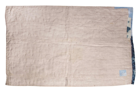 4'9''x6'5''Beige-Jean Color Vintage Hand Woven Quilt,Anatolian Handmade Quilt,Home Decor,Decorative Quilt Area Quilt,Custom Kurdish Quilt