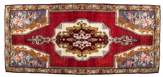 5'01'' x 8'6'' Red-Mix Color Vintage Turkish Wool Rug,Anatolian Ottoman Handmade Area Rug,Home Decor,Decorative Rug ,Nomadic Rug,Modern Rug