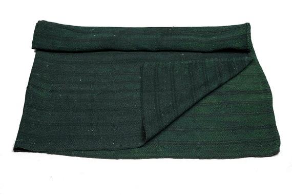 6'06''x 6'7'' Dark Green Color Vintage Turkish Wool Square Rug,Anatolian Handmade Area Rug,Home Decor,Decorative Rug ,Nomadic Rug,Modern Rug