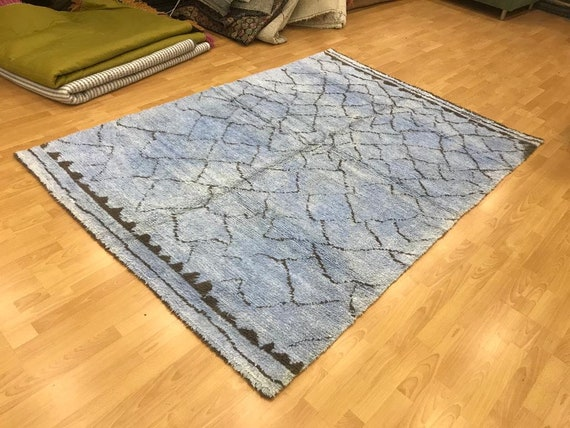Unique Tulu Rug , 6.06x8.5 Colorful Shaggy Rug , Oushak rug , Boho Rustic Rug , handmade area rug,Turkish vintage rug  by KilimRugHome