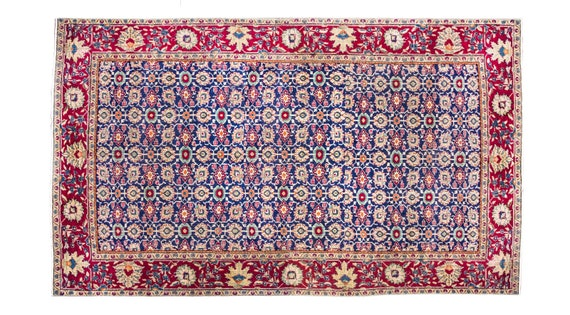 6'1''x9'5'' Navy Blue Color Vintage Turkish Wool Rug,Anatolian Ottoman Handmade Area Rug,Home Decor,Decorative Rug ,Nomadic Rug,Modern Rug