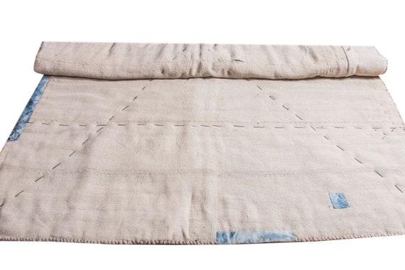 6'5''x8'6''Beige-Jean Color Vintage Hand Woven Quilt,Anatolian Handmade Quilt,Home Decor,Decorative Quilt Area Quilt,Custom Kurdish Quilt