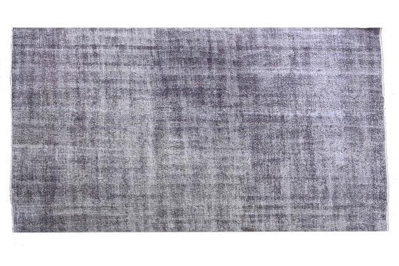 6'9''x10'1''Faded Gray Color Turkish Wool Rug,Anatolian Ottoman Handmade Area Rug,Decorative Rug,Nomadic Rug,Modern Art Rug,3459