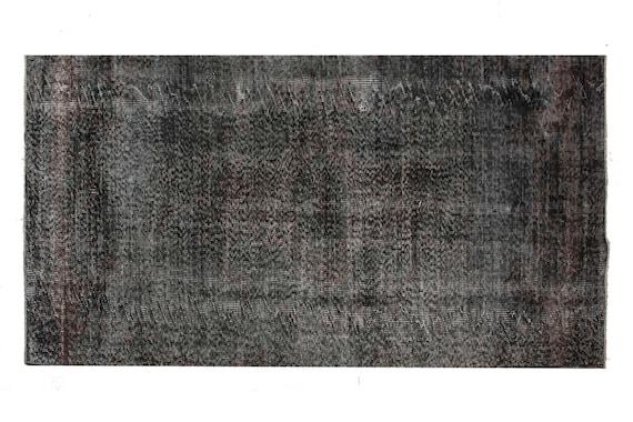 3'3'' x 9'7'' Black-Red Color Vintage Turkish Wool Rug,Anatolian Handmade Area Rug,Home Decor,Decorative Rug,Runner Rug,Nomadic Rug,2609