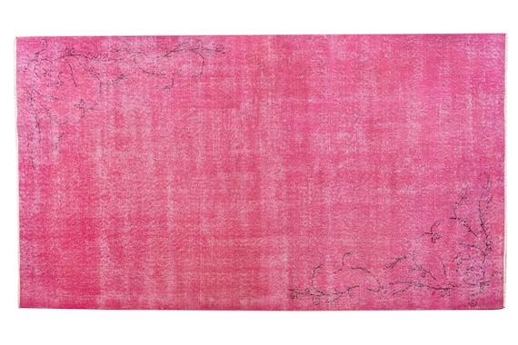 3'5''x6'8''Vintage Rug,Pink Color Turkish Area Rug,Bedroom Rug,Neutral Rug,Living Room Rug,Boho Rug,Decorative Rug,Faded Rug,3258