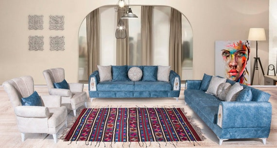 5'5''x9'08''Red-Blue-Colorful Color Turkish Wool Rug,Anatolian Ottoman Handmade Area Rug,Decorative Rug,Nomadic Rug,Cicim Rug,3219